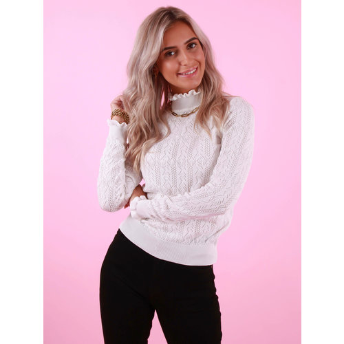 May Knitted Jumper White
