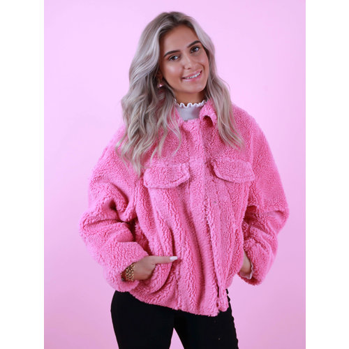 K-ZELL Teddy Jacket Short Pink