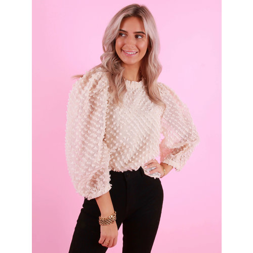 VERA & LUCY Dotted Blouse Beige