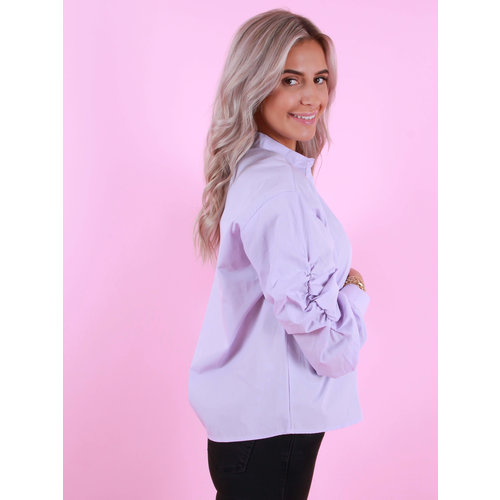 ELENZA Cotton Blouse Lilac