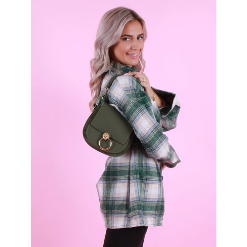 Teatro Leather  Gianna - Classic Grain - Crossbody bags - Army Green
