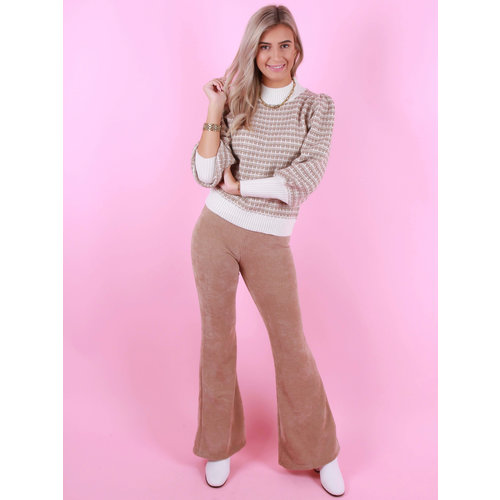 Eight Paris Soft Rib Flared Pants