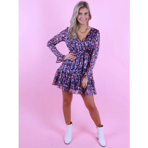 RETRO ICONE Anna Dress Blue