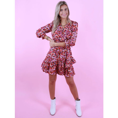 IVIVI Happy Floral Dress Rouge