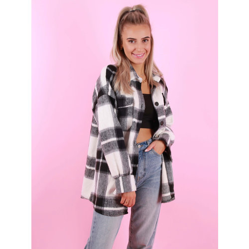NEW COLLECTION Checkered Jacket Black/White