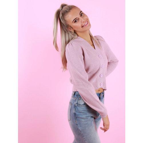 FLAMANT ROSE Bodine Cardigan Pink