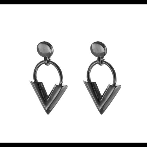 Ladylike Earrings Sweet V Silver
