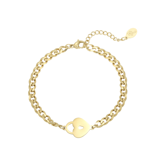 Ladylike Bracelet Locked Heart Gold