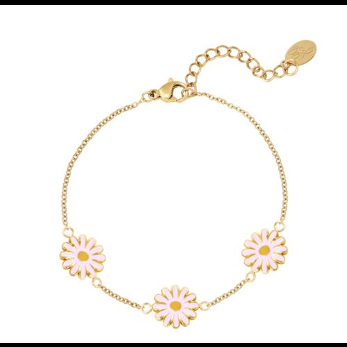 LADYLIKE Bracelet Daisy Gold/Pink