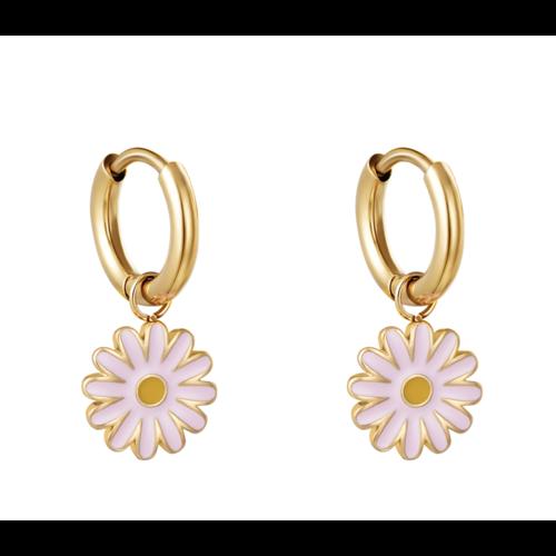 Ladylike Earrings Daisy Gold/Pink