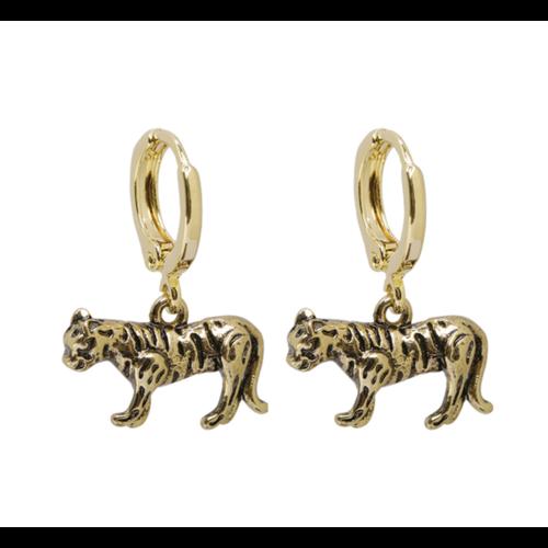 LADYLIKE Earrings Wild Tiger Gold