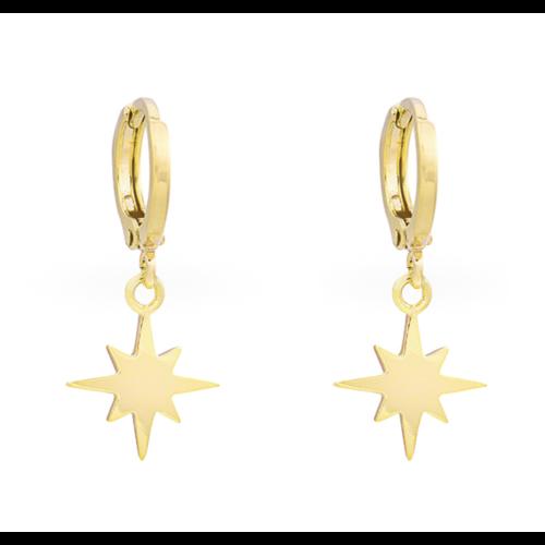 YEHWANG Earrings Universe Star Gold