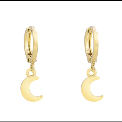 YEHWANG Earrings Half-Moon Gold