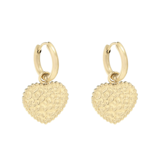 YEHWANG Earrings My Gold Heart Gold