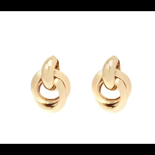 YEHWANG Earrings Magic Hoops Gold