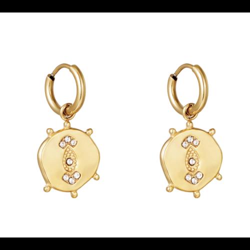 YEHWANG Earrings Funky Coin Gold