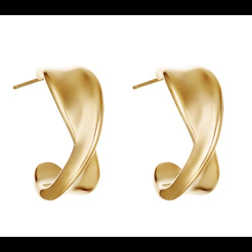 YEHWANG Earrings Twist It Gold