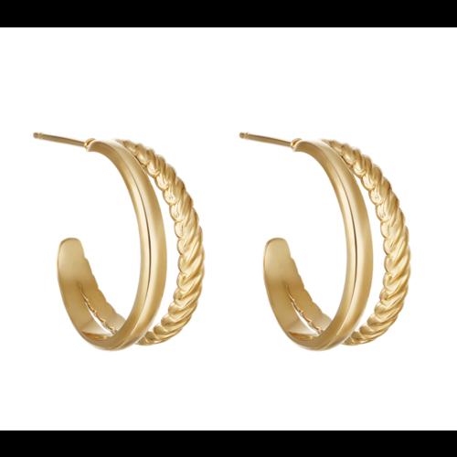 YEHWANG Earrings Sophisticated Gold