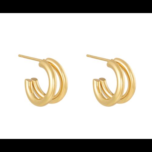 YEHWANG Earrings Circled Gold