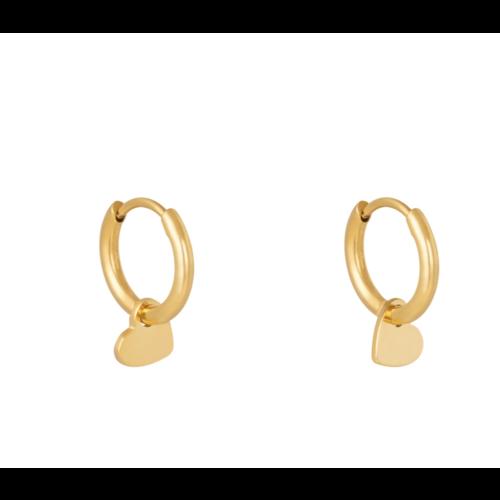 YEHWANG Earrings Lonely Hearts Club Gold