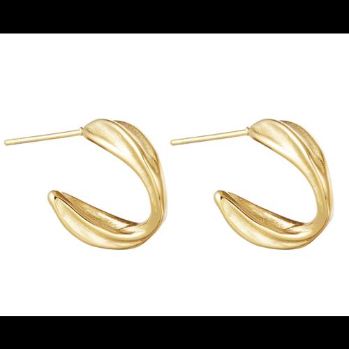 YEHWANG Earrings Barrier Reef Gold