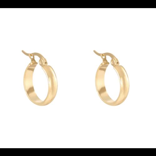 YEHWANG Earrings Creole Basic Gold