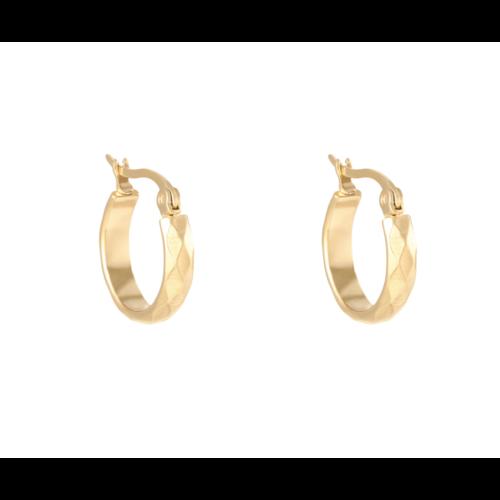 YEHWANG Earrings Creole Diamond Gold