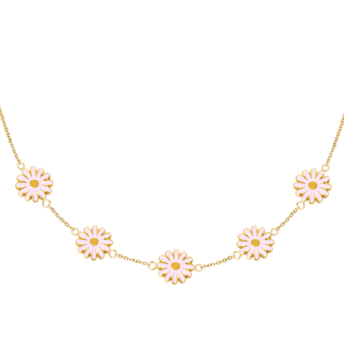 YEHWANG Necklace Daisy Gold/Pink