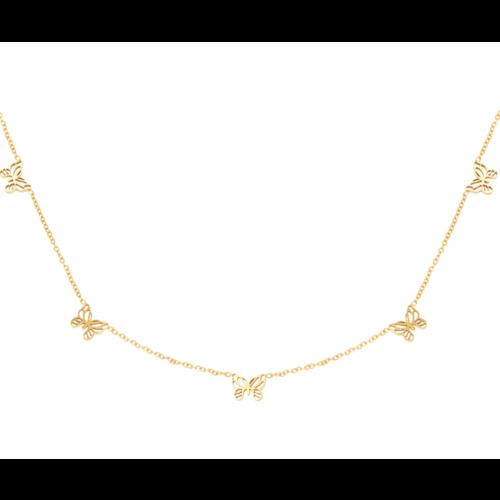 YEHWANG Necklace Little Butterflies Gold