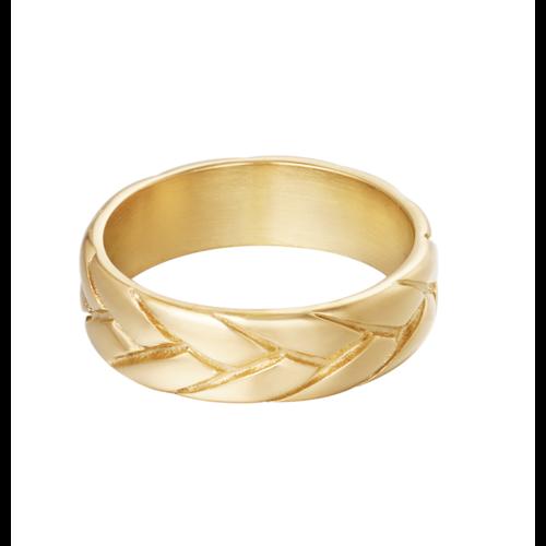 YEHWANG Ring Big Braid Gold
