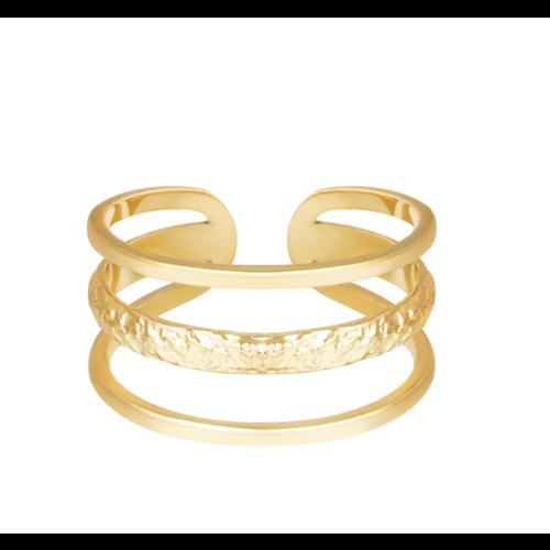 YEHWANG Ring Layers Gold