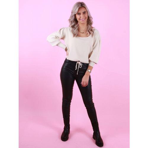 Toxik Coated Skinny Jeans Black