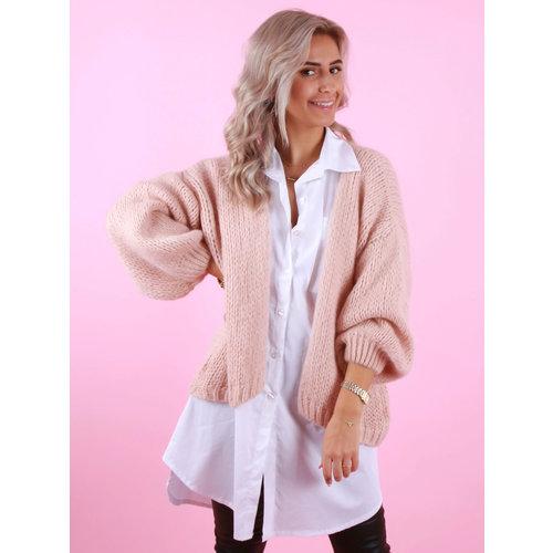 MIKA ELLES Knitted Cardigan Peach