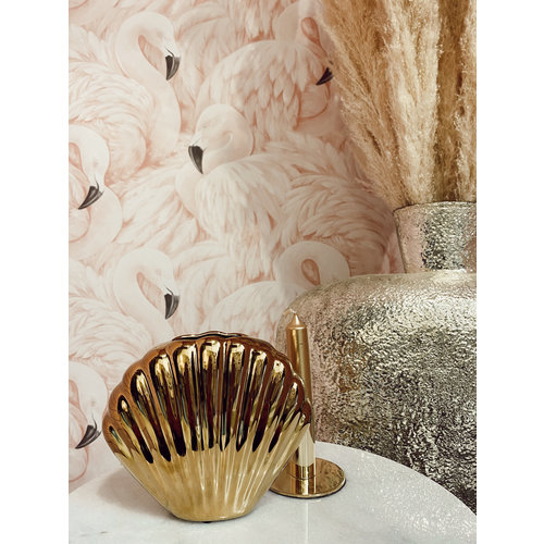 COCO MAISON Vase Shell Gold