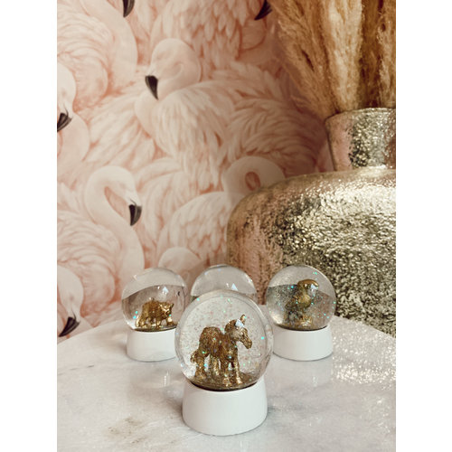 Kersten Water Globe Zebra Glass Gold