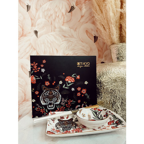 CNB ENTERPRISES Sushi Plate Set Tiger