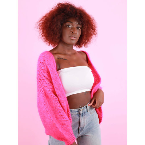 Mika Elles Knitted Cardigan Pink