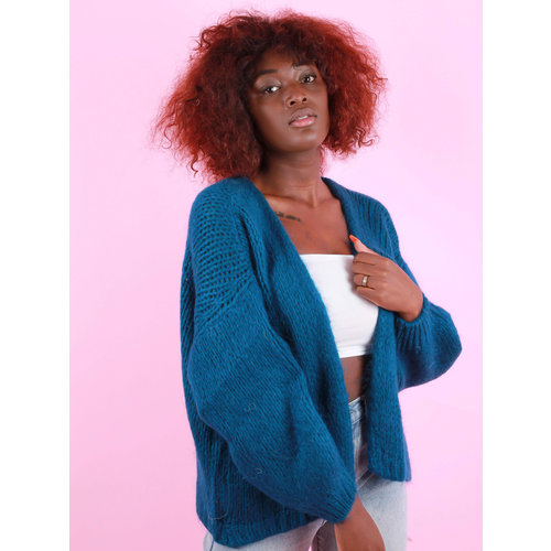 Mika Elles Knitted Cardigan Peacock