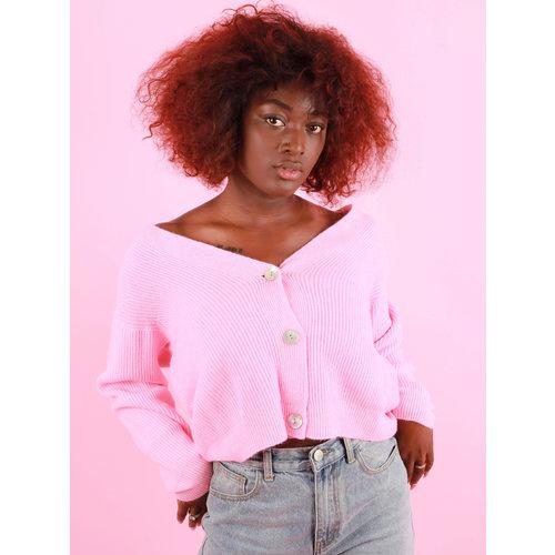 ALEXANDRE LAURENT Cardigan Shell Button Pink