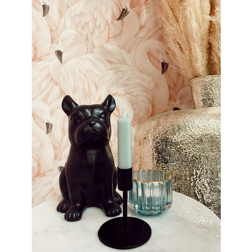 House Vitamin Candle Holder Black