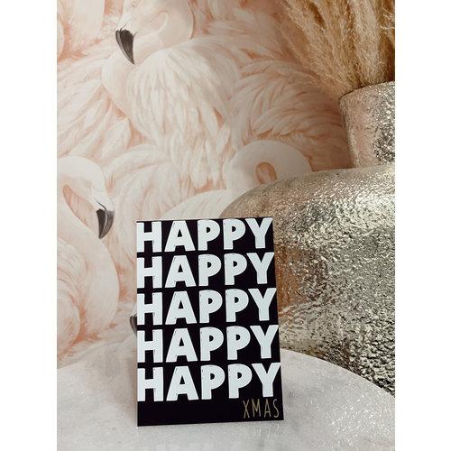 Miekinvorm Postcard Happy Xmas
