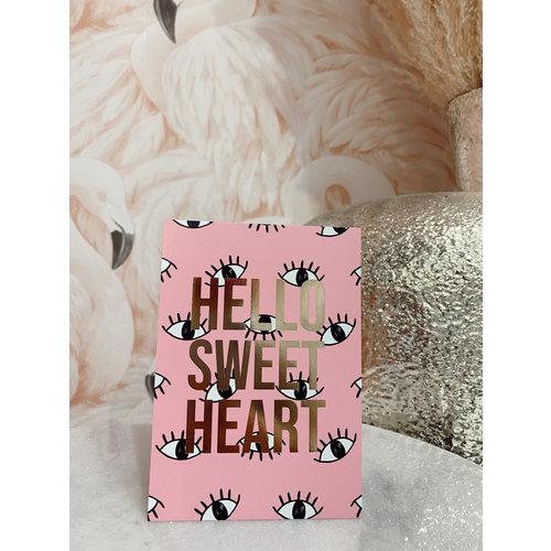 Studio Stationery Postcard Hello Sweet Heart