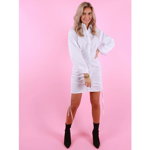 VERA & LUCY Blouse/Dress Side Ruffle White