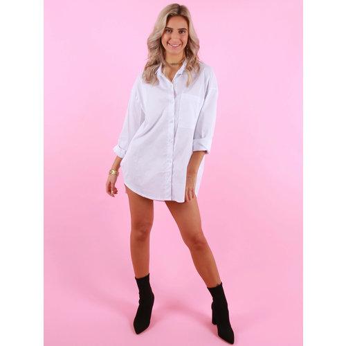 JESSY & CO Basic Cotton Blouse White