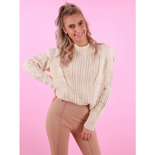 By Clara Demi Jumper Beige