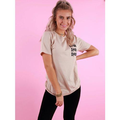 Pretty Body Brand T-Shirt Beige