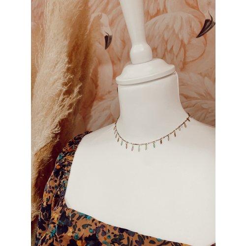 LADYLIKE FASHION Hanging Colors Necklace Gold