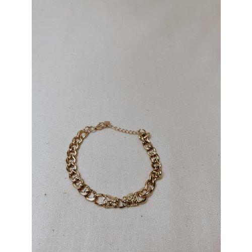 LADYLIKE FASHION Leopard Chain Bracelet Gold
