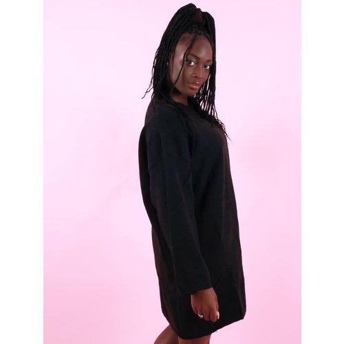 Mochy Oversized Jumper Dress Black