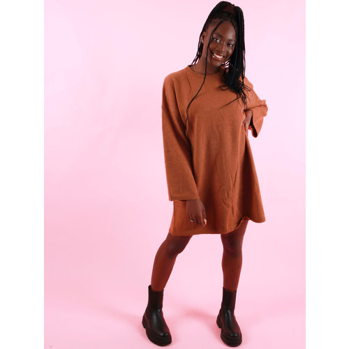 Mochy Oversized Jumper Dress Camel